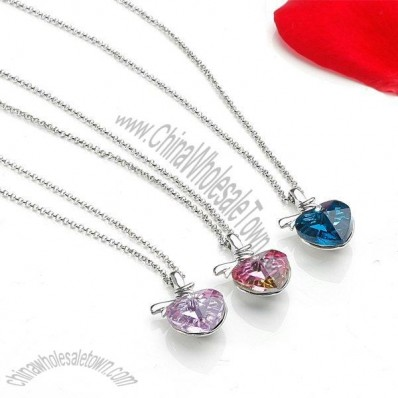 Heart Pendant with Swarovski Elements