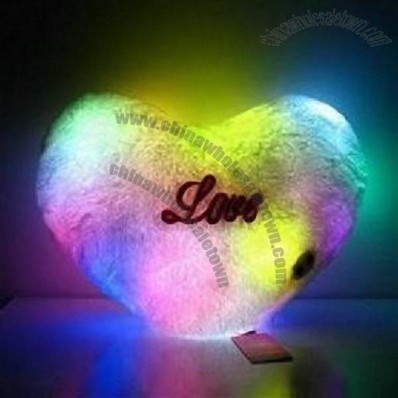 Heart Pillow 7-color LED Light Up Colorful Cushion