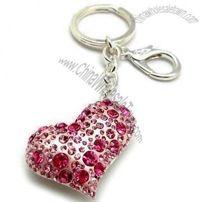 Heart Shape Fashion Rhinestone Keychain