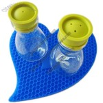 Heart Shaped Cellular Silicone Coasters