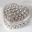Heart Shaped Diamond Jewelry Box - Pewter
