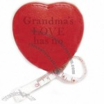Heart Shaped Leather Tape Measure