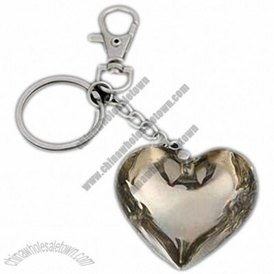 Heart Shaped Metal Keychain