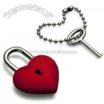 Heart Shaped Padlock With Keychain