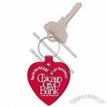Heart Shaped Soft Vinyl Keytag