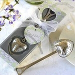 Heart-Shaped Tea Infuser Wedding Favor