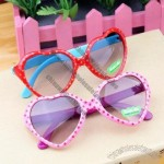 Heart Sunglasses with Dot for Kids