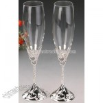 Heart Toasting Flutes
