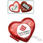 Heart pedometer with clock