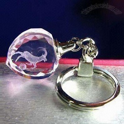 Heart-shaped Crystal Keychain
