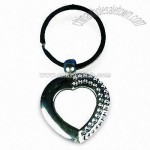 Heart-shaped Fancy Keychain with Diamond