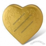 Heart-shaped Gift Tin Box for Tea, Coffee, and Chocolate