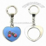 Heart-shaped Keychains with Mirror