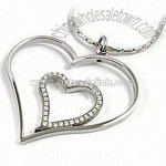 Heart-shaped Stainless Steel Pendant