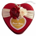 Heart-shaped Tin Can Metal Favors Boxes and Ribbon