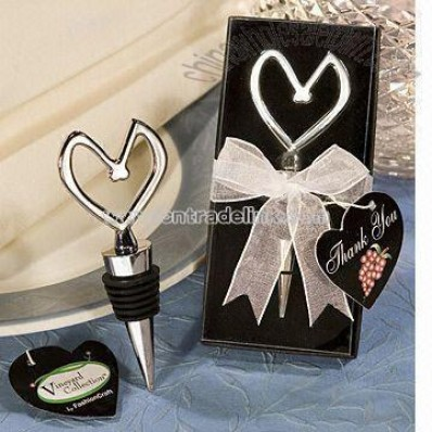 Heart-shaped Wine Stopper Suitable for Wedding and Promotional Gifts
