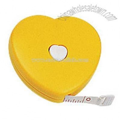Heart shaped cloth tape measure