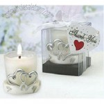 Heart shaped wedding candle holder