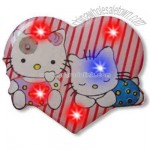 Heart with 2 cats - Flashing pin with love theme