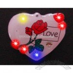 Heart with a rose - Flashing pin with love theme