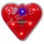 Heart with dual heart inside - Flashing pin with love theme