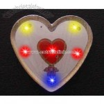 Heart with multi color lights - Flashing pin with love theme