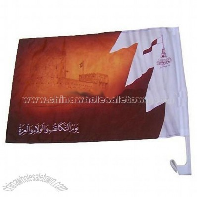 Heat transfer printing car flag