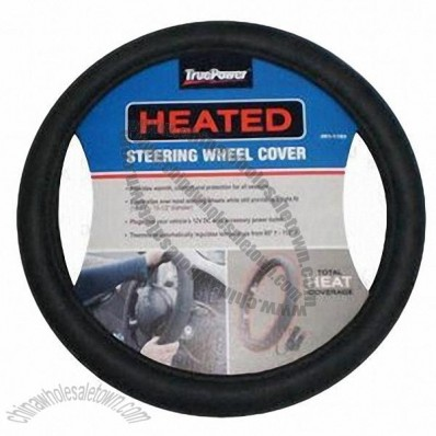Heated steering wheel cover with 16W power
