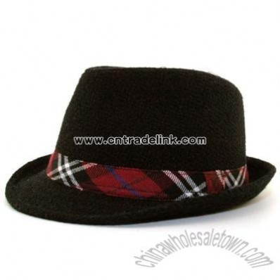 Heave Weight Fedora w/Plaid Band hat