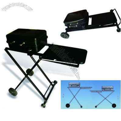 Height Adjusted Portable Cart Gas Grill