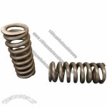 Helical coil springs with ground close end, suitable for various industries