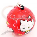 Hello Kitty 3D Puzzle Key Chain (Red)