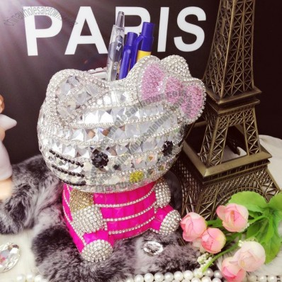 Hello Kitty Rhinestone Pen Holder with Coin Bank