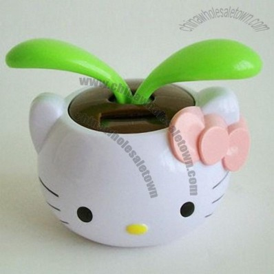 Hello-kitty Flowerpot Solar Power Flip Flap Dancing Daisy Flower