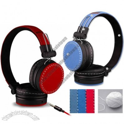 Helmet Style Canvas Headphone