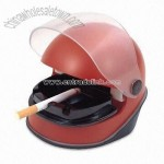Helmet-style USB Electronic Ashtray with Red LED Indicator