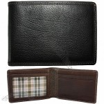 Hendrix Slimster Wallet in Oldwood Black with Green Plaid