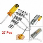 Hex to Square Socket Slotted Phillips Torx Screwdriver Bits Tools 27 Pcs