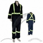 Hi-Visibility Blue 3M Retro-reflective Stripes Coverall