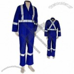 Hi-Visibility Blue FIRE RETARDANT 3M Retro-reflective Coverall