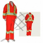 Hi-Visibility Orange 3M Retro-reflective stripes Coverall