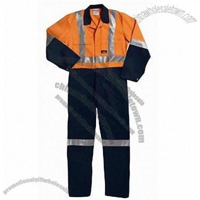 Hi-Visibility Two Tone Cotton Drill Coverall with 3M Tape