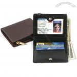 High Polished Cowhide Leather Bi-fold Simplified Wallet