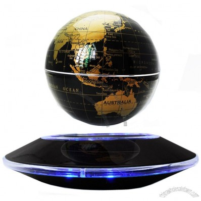 High Rotation Mirror Luxury Creative Shape Magnetic Suspension Maglev Levitation Globe Tellurian