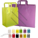 High density frosty plastic shopping bag