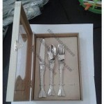 High-end Mermaid Design Stainless Steel Flatware Set with Wooden Gift Box