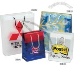 High end rope handle shopping bag made from 3.5 mil plastic