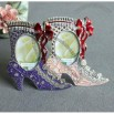 High-heel shoe with bowknot shaped photo frame