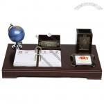High quality Business Desk Set with Calendar, Pen Holder, Card Holder, Notepad, Tellurion