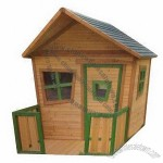High-quality Wooden Kids' Playhouse with Water-based Paint